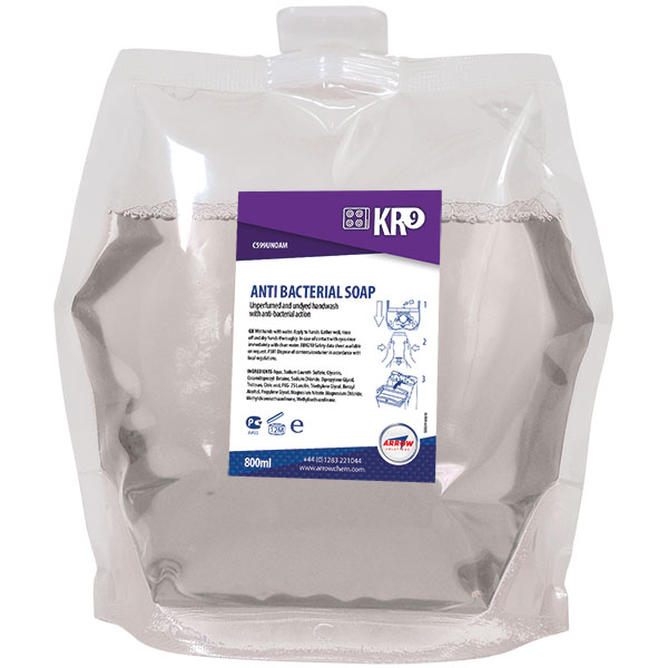 KR9 Anti Bacterial Soap Pouch 800ml
