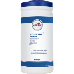 Lotoxane degreasing wipes