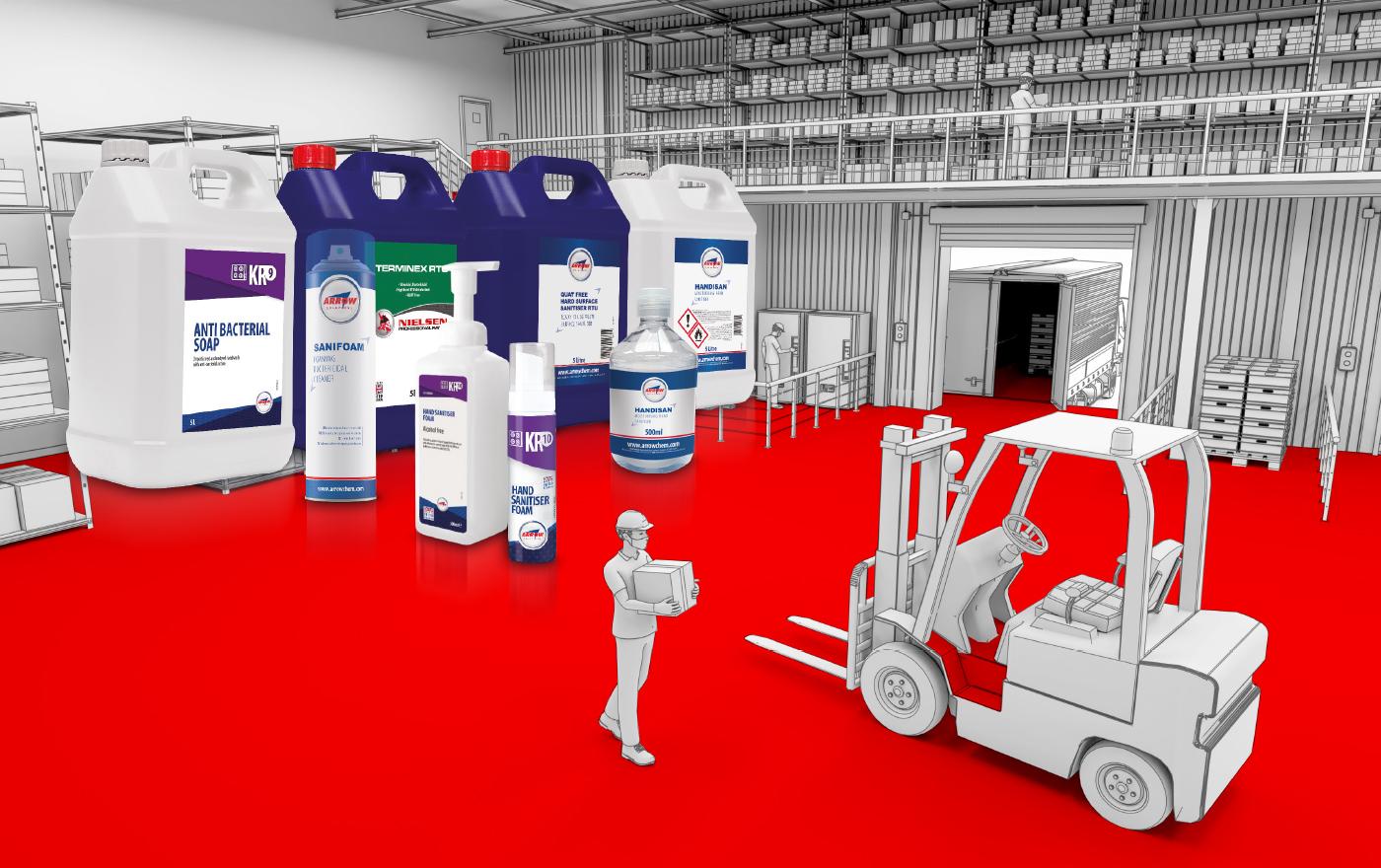 Warehouse sanitising